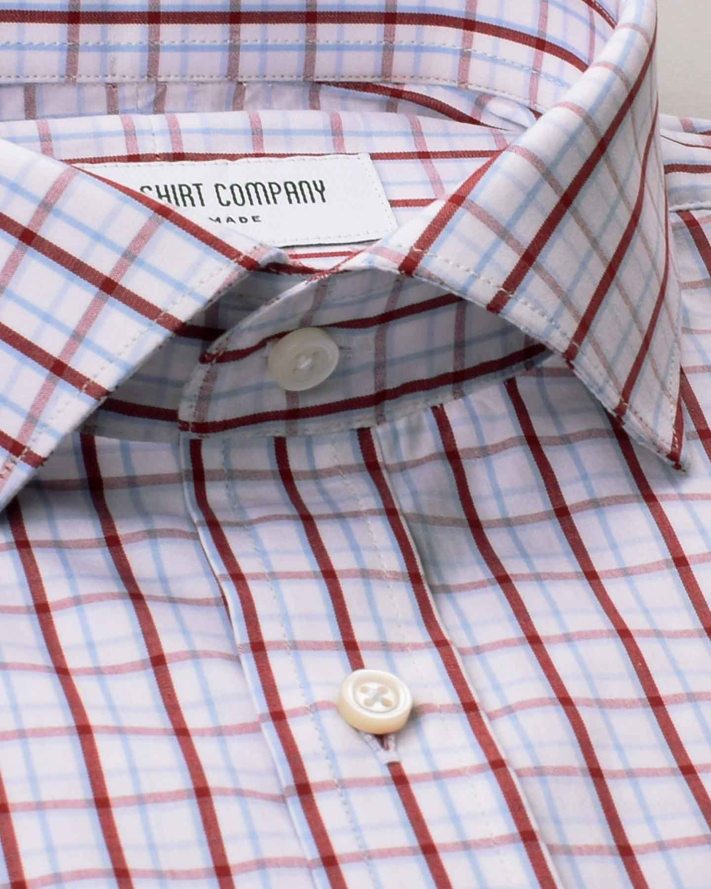 Brick and Blue Checks Shirt