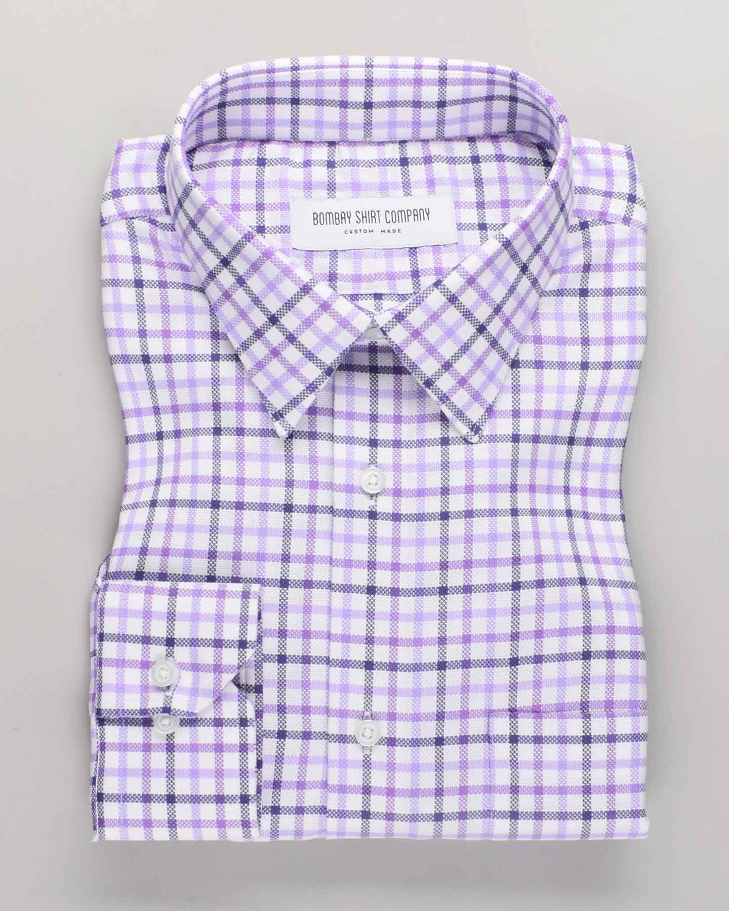 Purple Vintage Oxford Checks Shirt