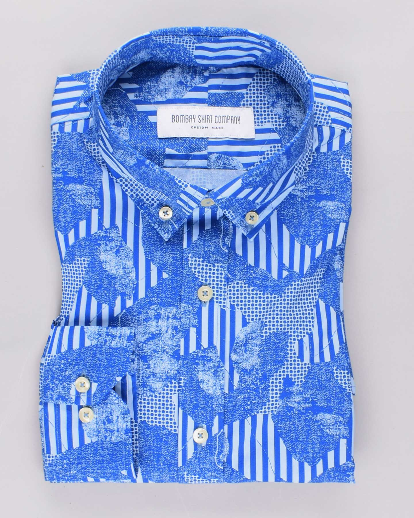 Cerulean Collage Print Shirt