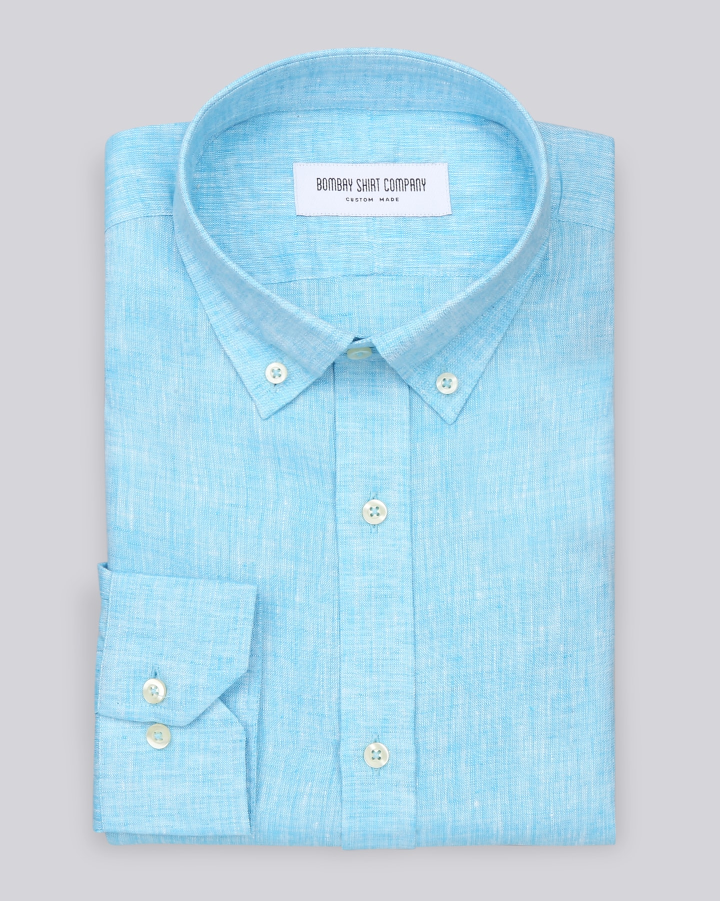 Tiffany Blue Italian Linen Shirt