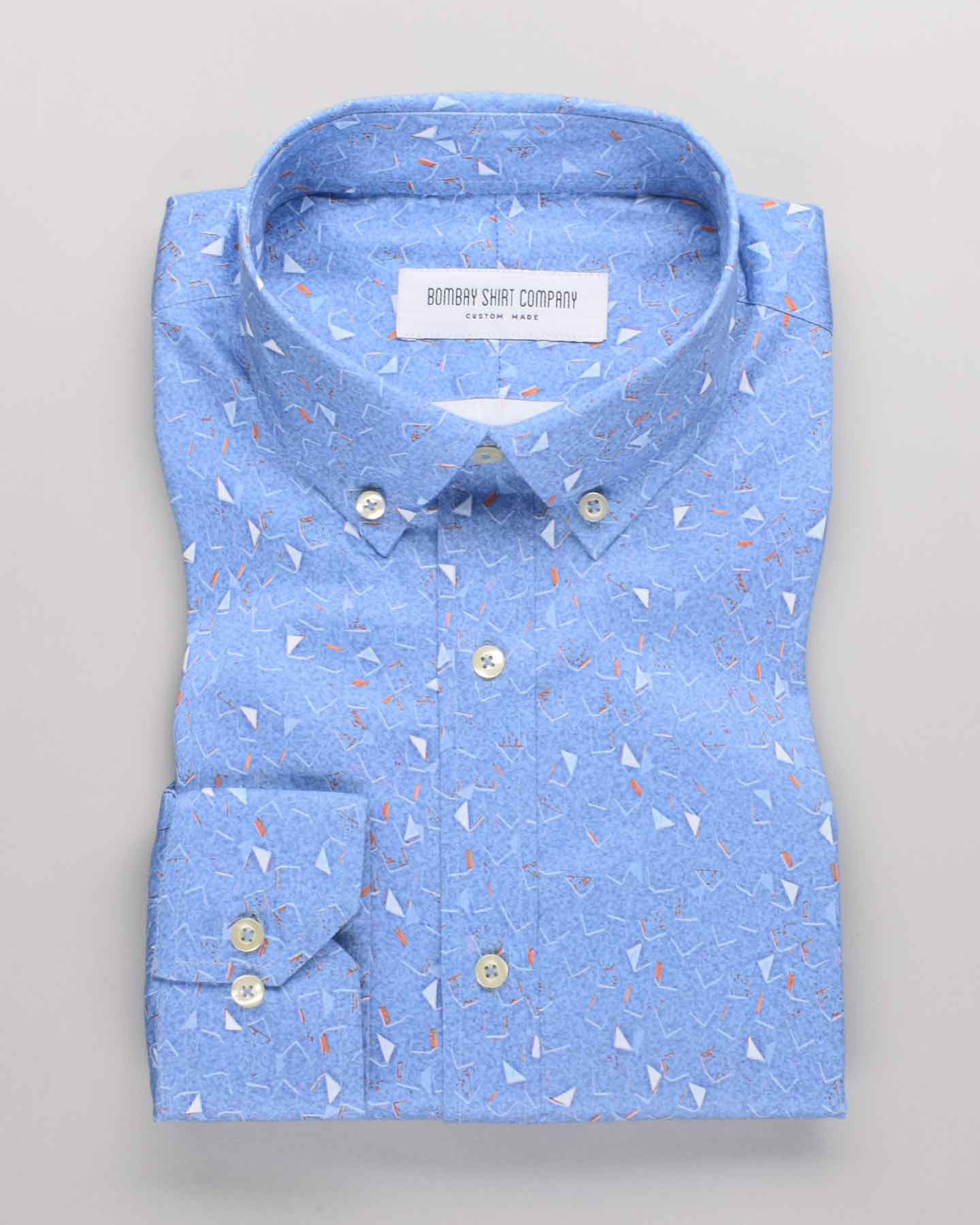 Blue Summer Print Shirt