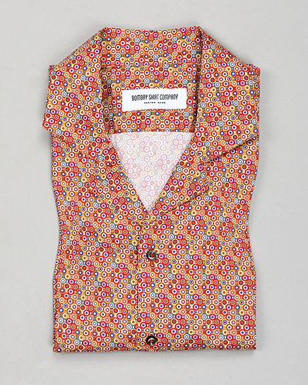 Kaleidoscope Cuban Collar Shirt