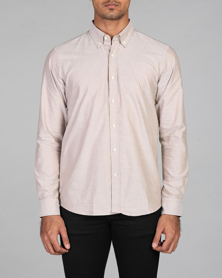 Sand Oxford Shirt