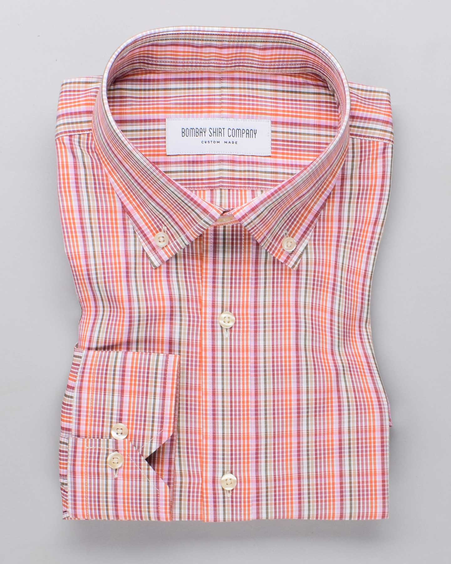 Mango Berry Checks Shirt