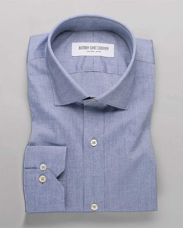 Steel Blue Chambray Shirt