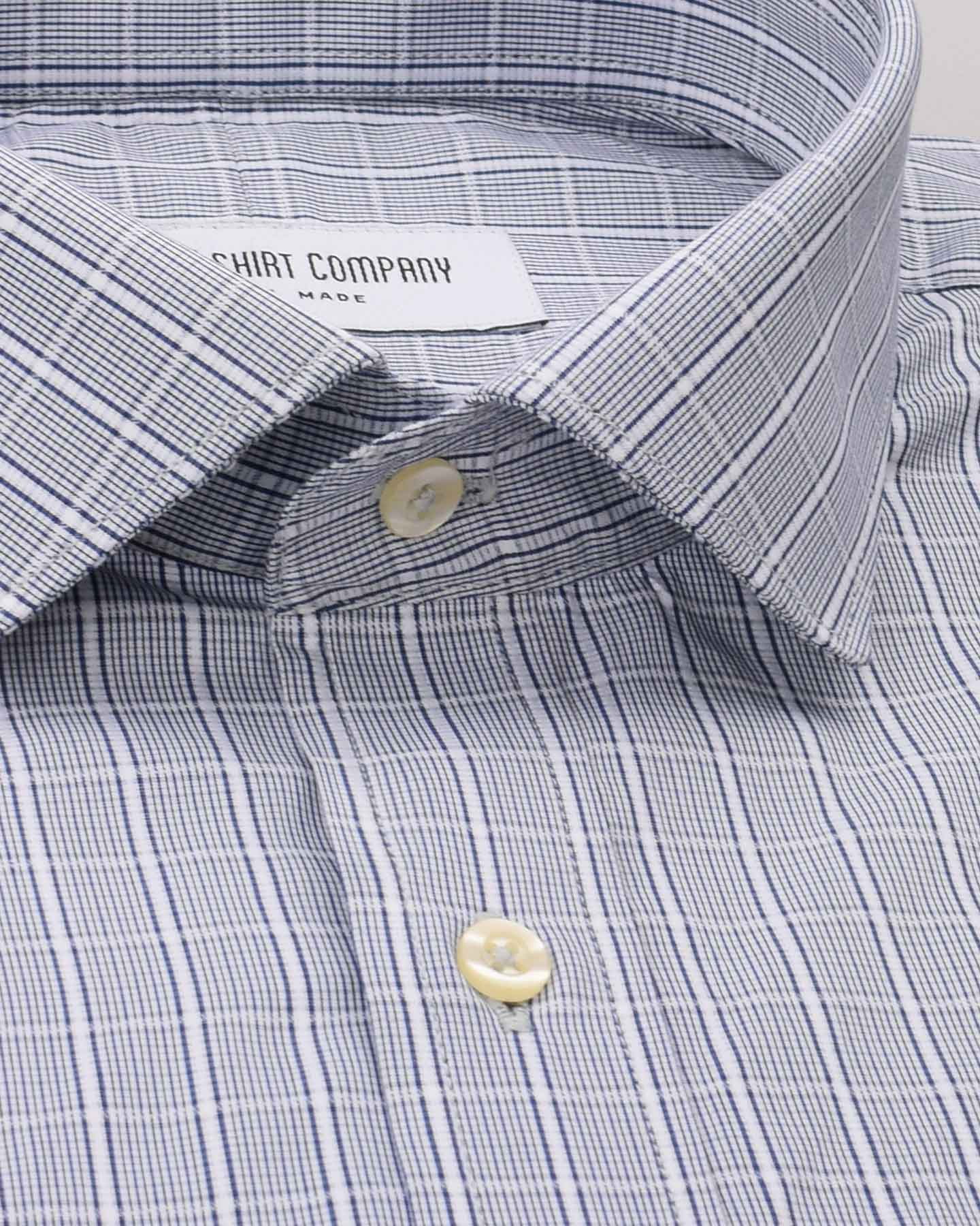 Wrinkle Resistant White Wash Checks