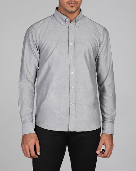 Grey Mist Oxford Shirt