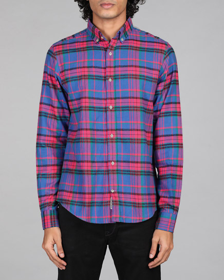Japanese Fuschia Pink Checks Shirt
