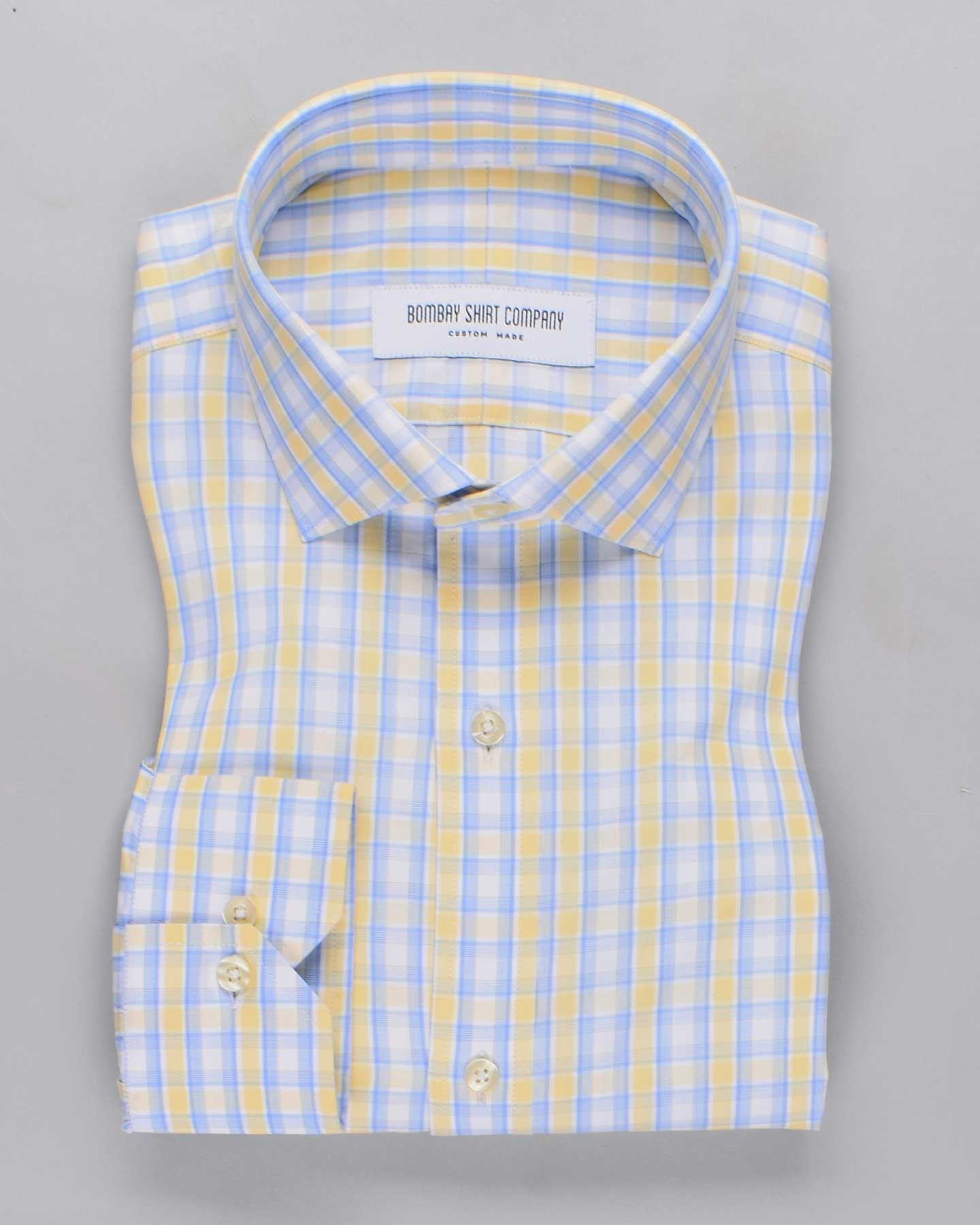 Lemon Meringue Checks Shirt