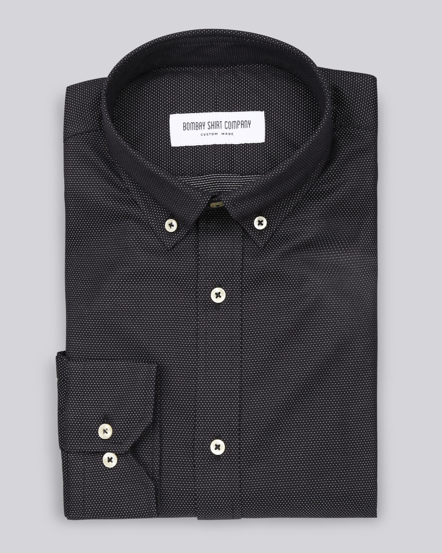 Greyish Black Reversible Dobby Shirt