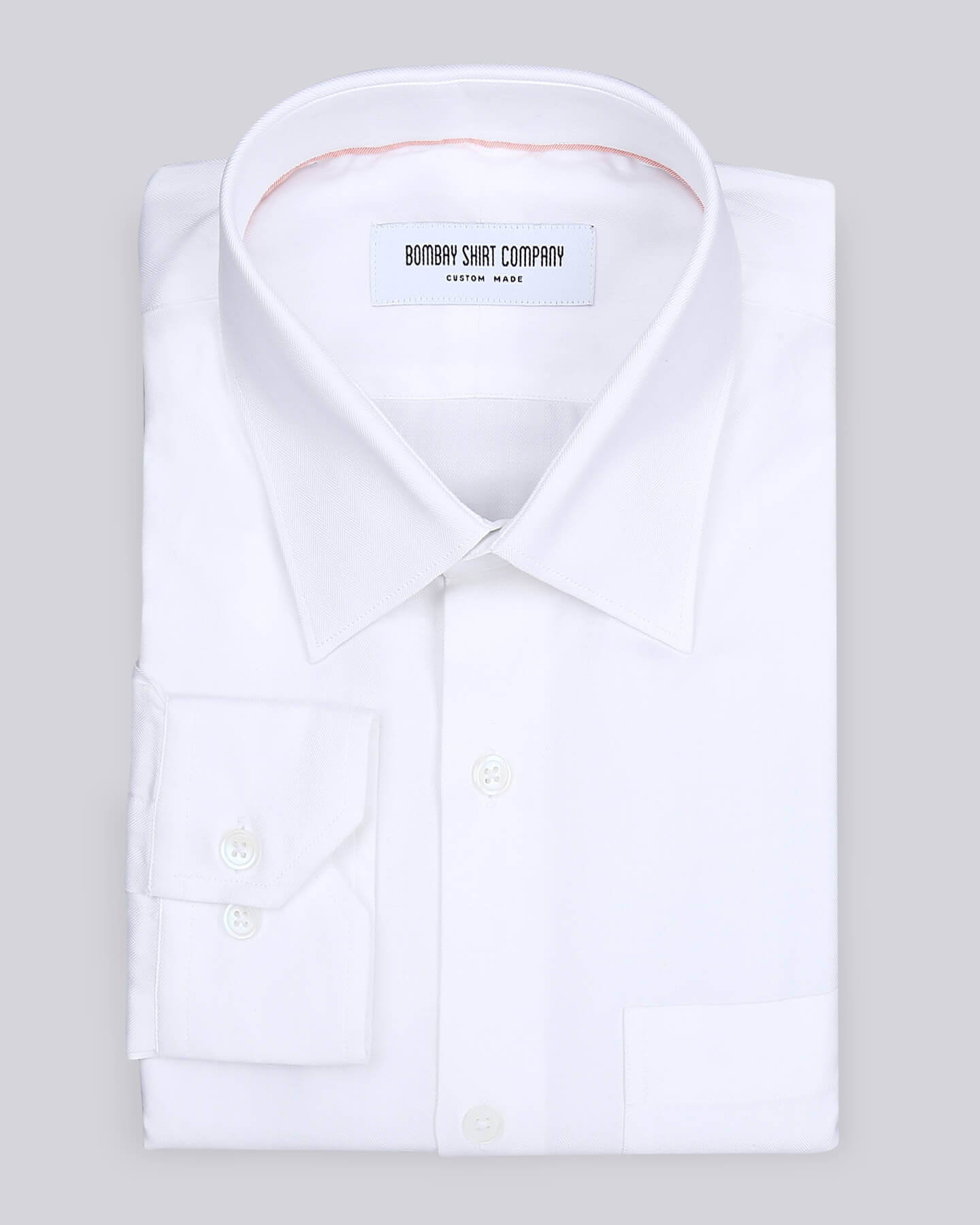 Alabaster White herringbone Shirt