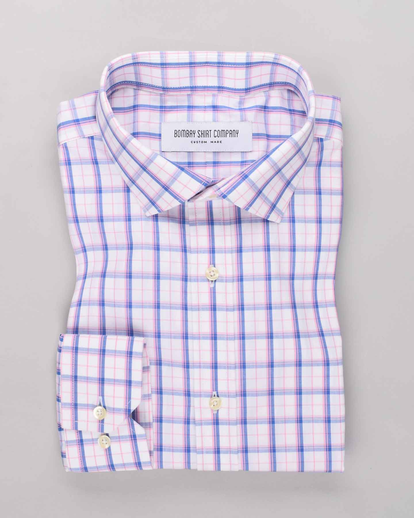 Blue & Pink Checks Shirt