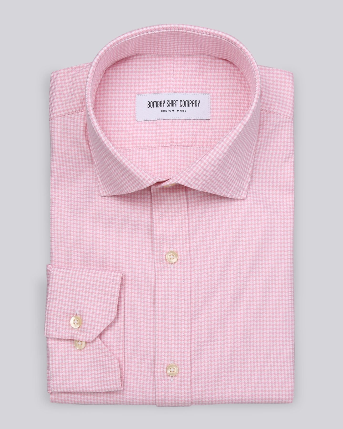 Pink Houndstooth Shirt