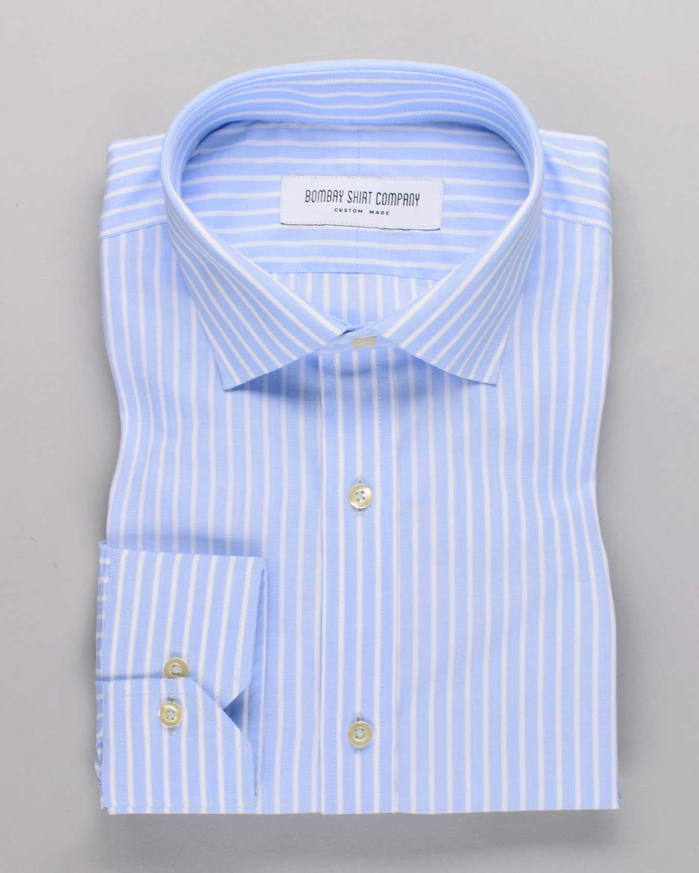 Luthai White Fil-A-Fil Stripes Shirt