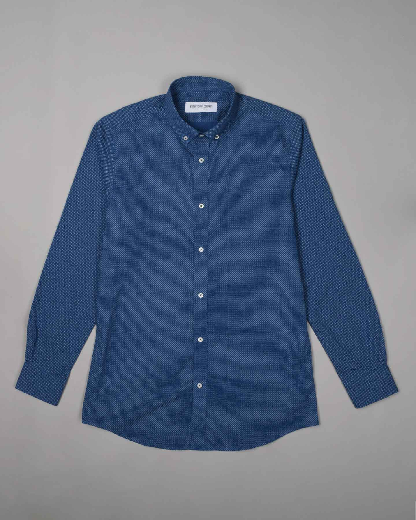 Carlo Bassetti Blue Polka Dream Shirt