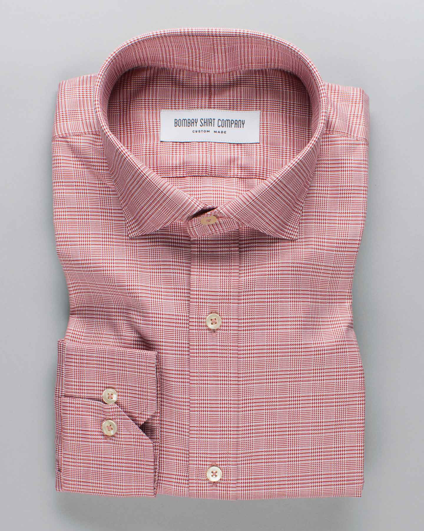 Red Glen Plaid Checks Shirt