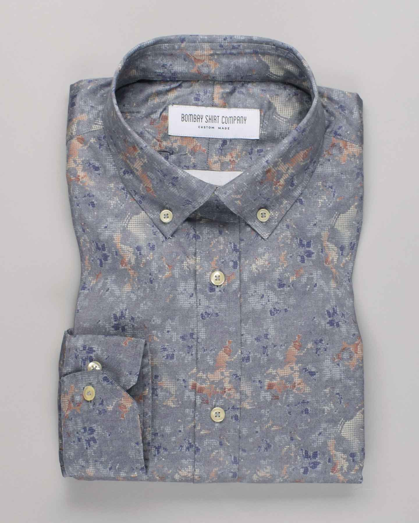 Steel Grey Print Shirt