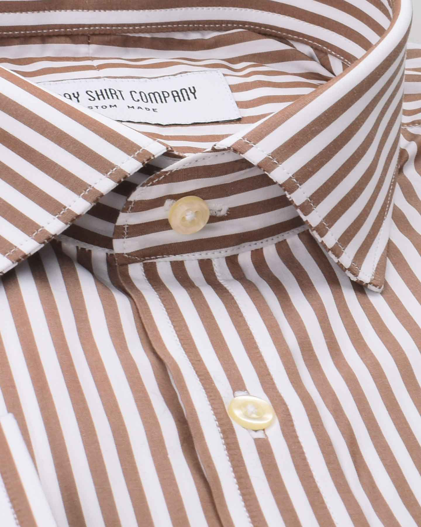 Wrinkle Resistant Mocha Stripes Shirt