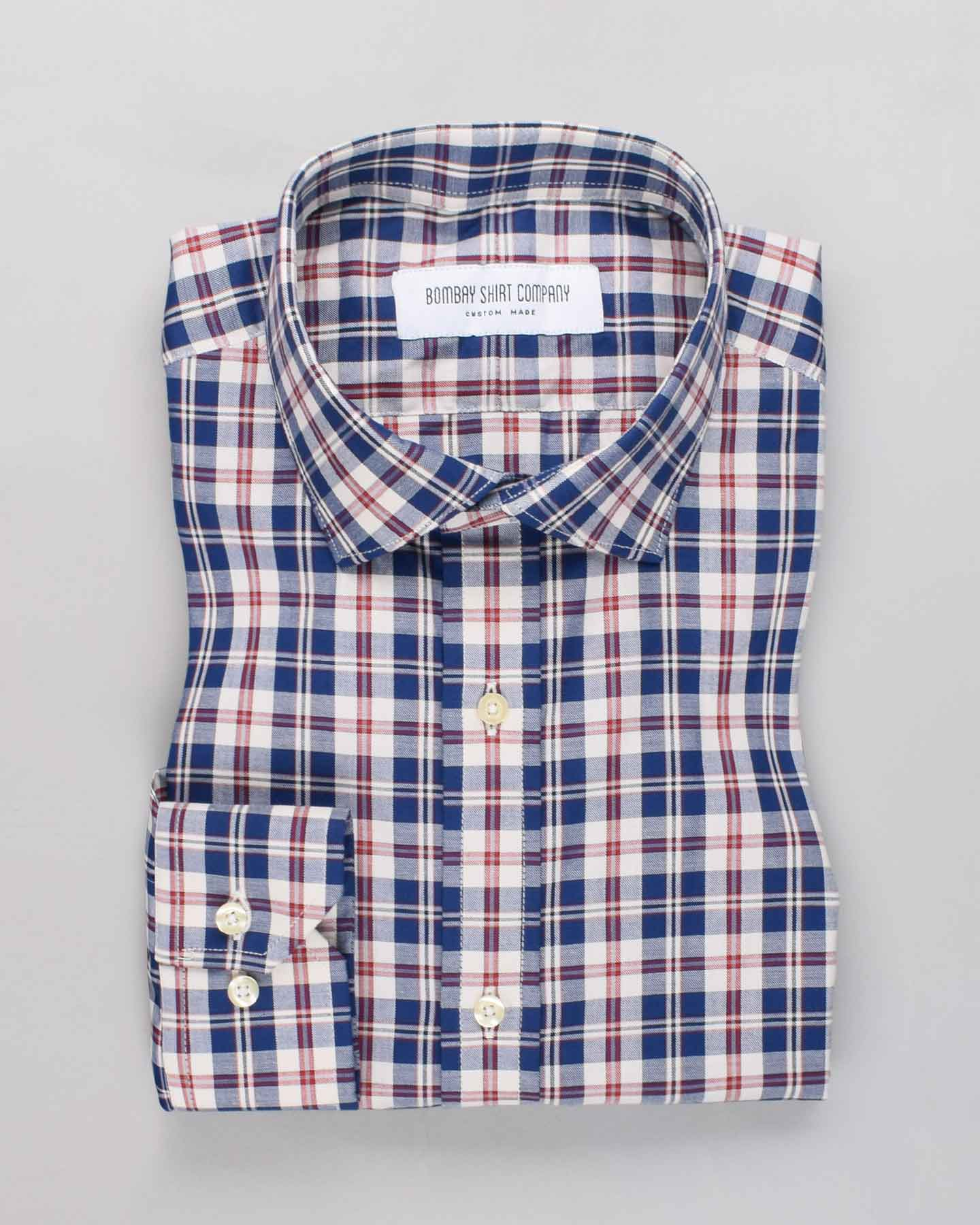 Monti Blue Checkers Shirt