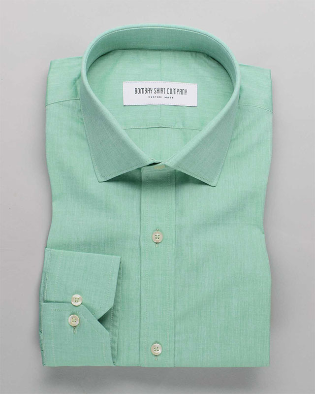 Mint Green Chambray Shirt