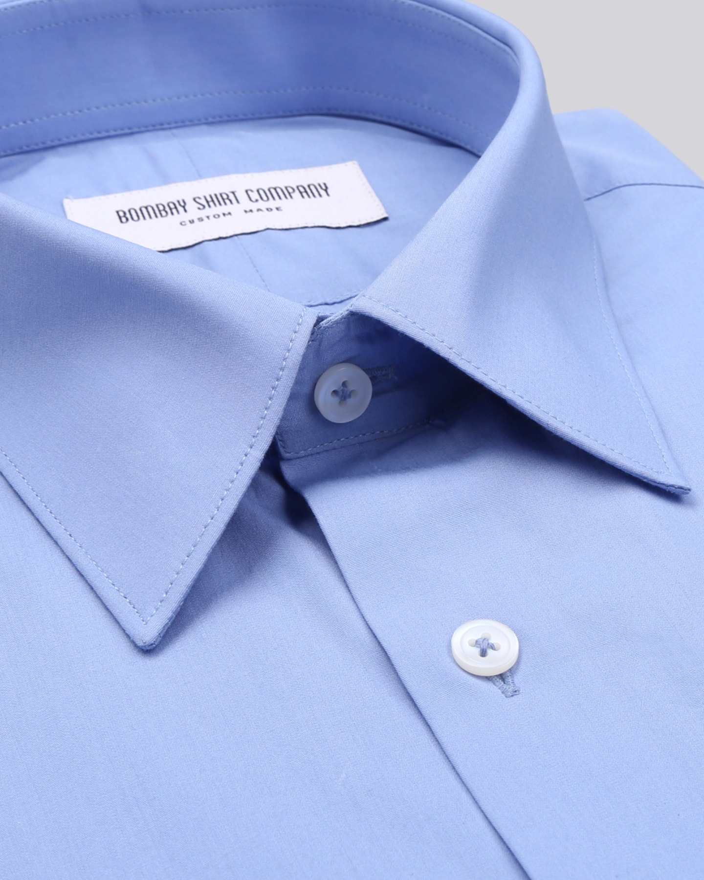 Medium Blue Poplin Shirt