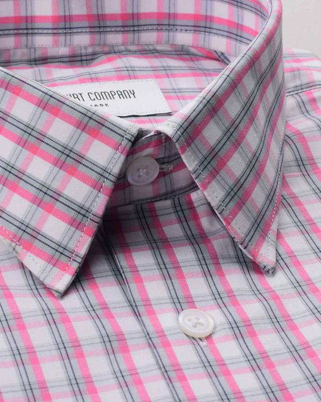 Blush Pink Checks Shirt