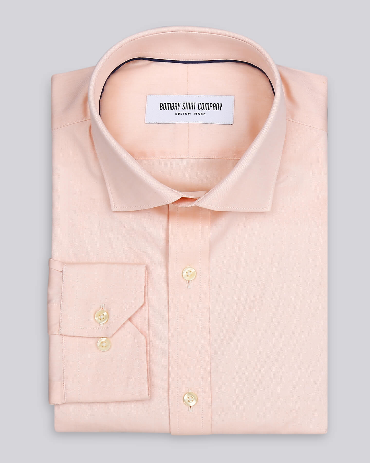 Wrinkle Resistant Peach Oxford Shirt