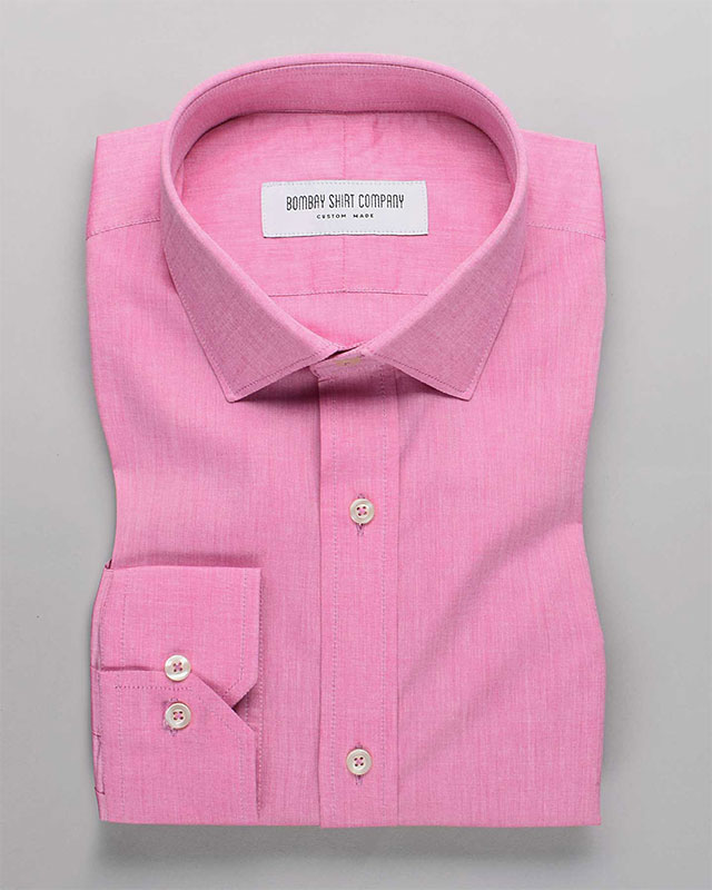 Gunmetal Pink Chambray Shirt