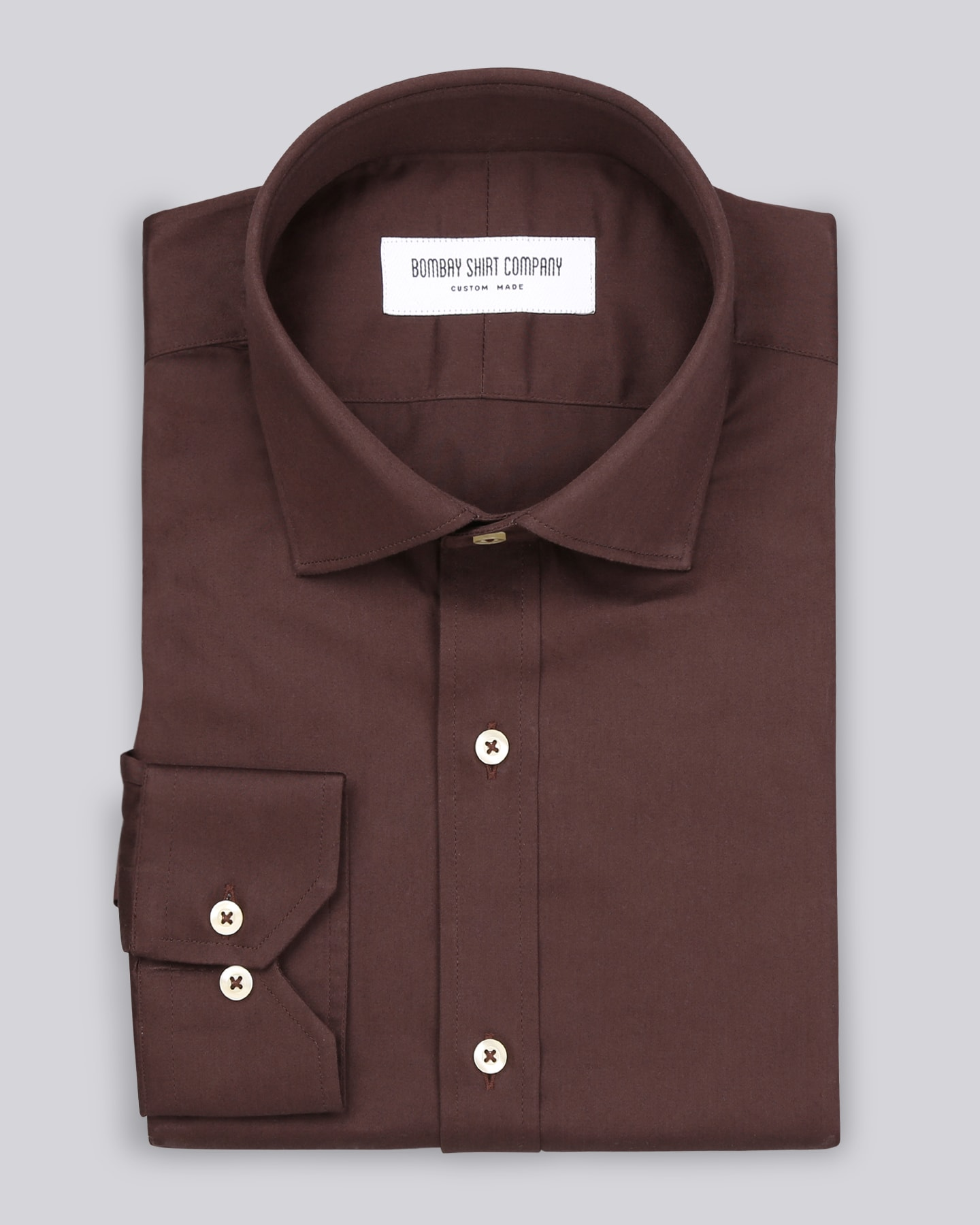 Umber Brown Satin Shirt