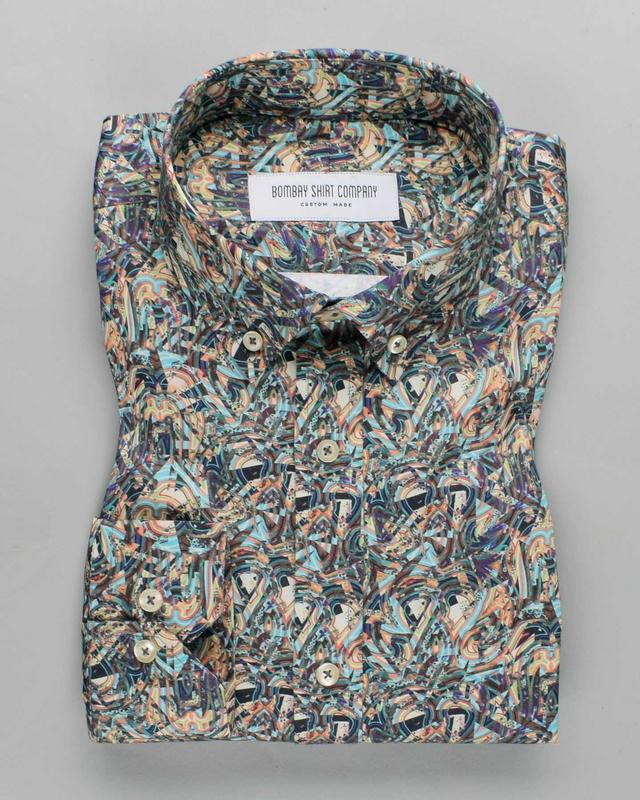 Painterly Print Shirt