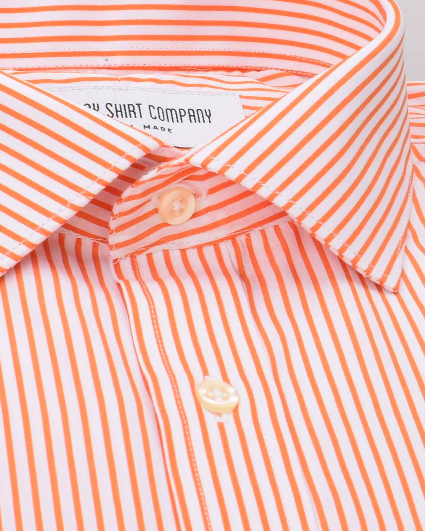Wrinkle Resistant Saffron Stripes Shirt