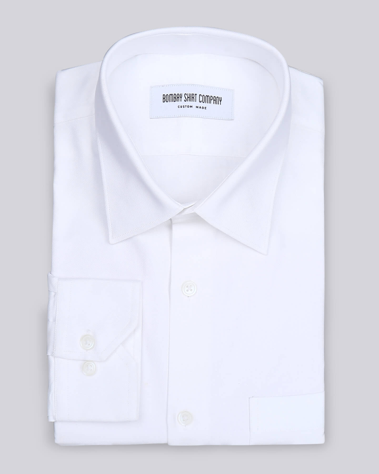 Wrinkle Resistant White Pin Point Shirt