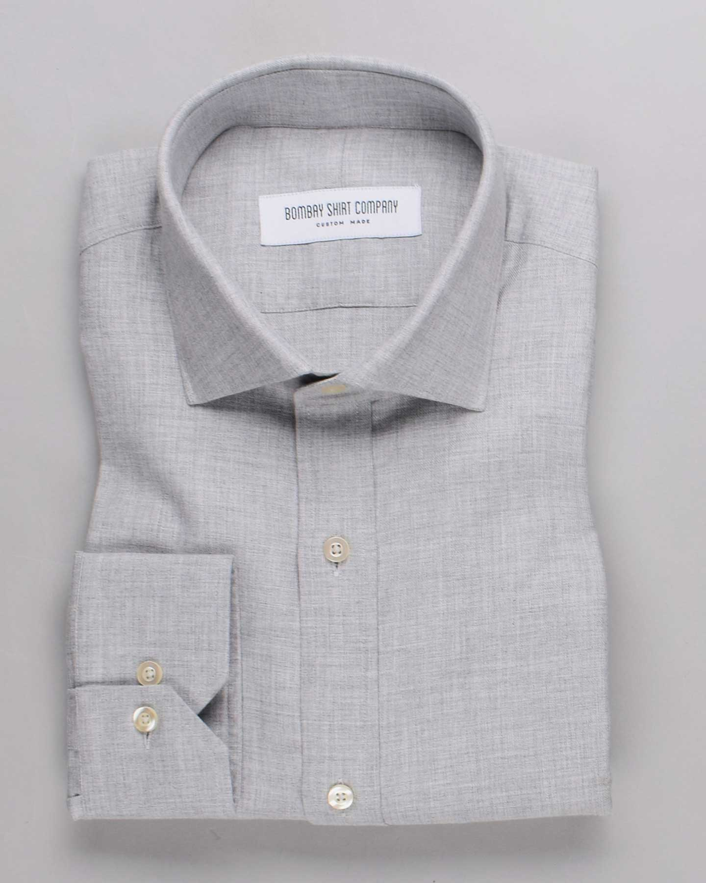 Elephant Grey Brushed Twill Shirt