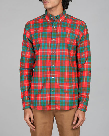 Japanese Rubik Red Checks Shirt