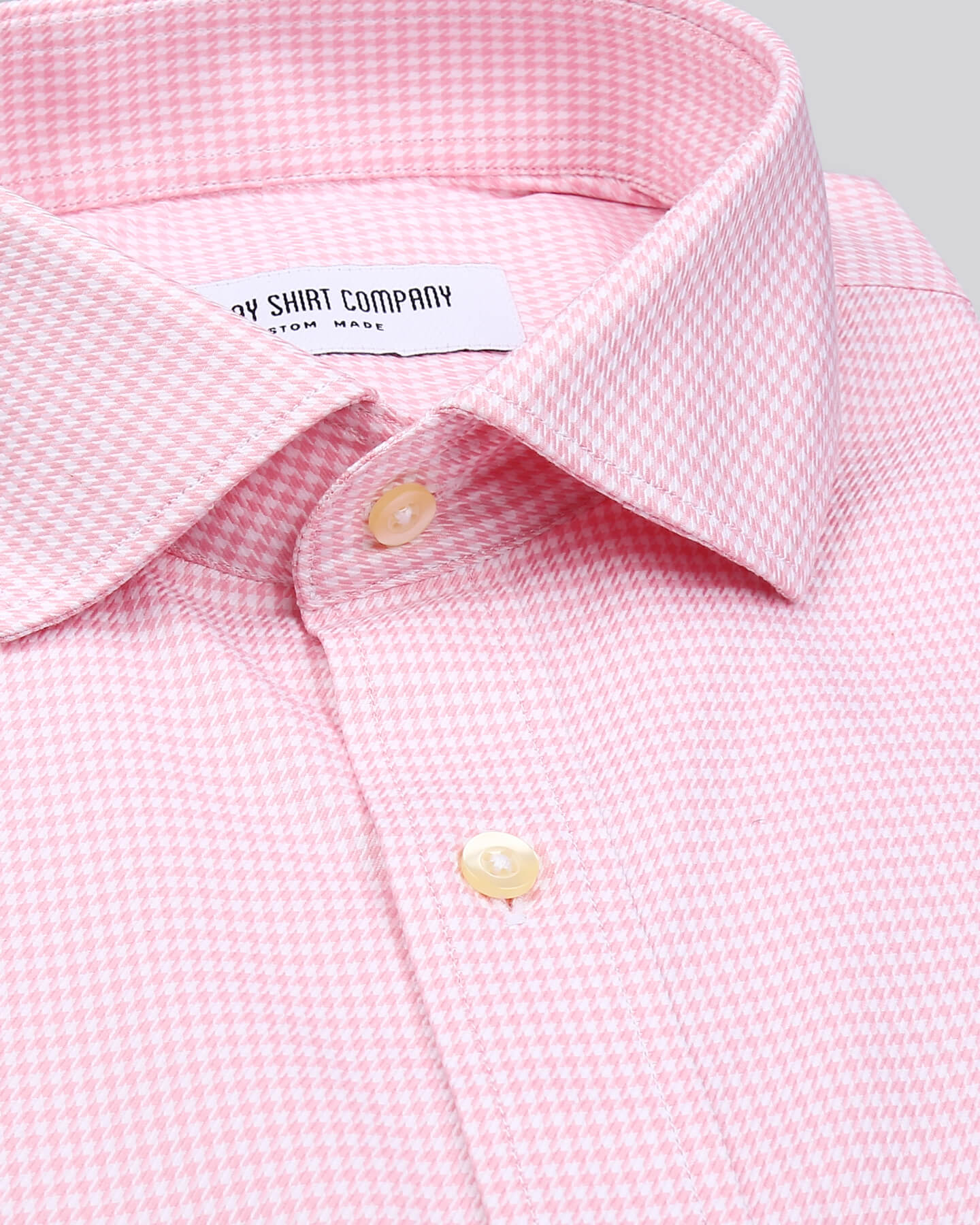 Super Pink Houndstooth Shirt