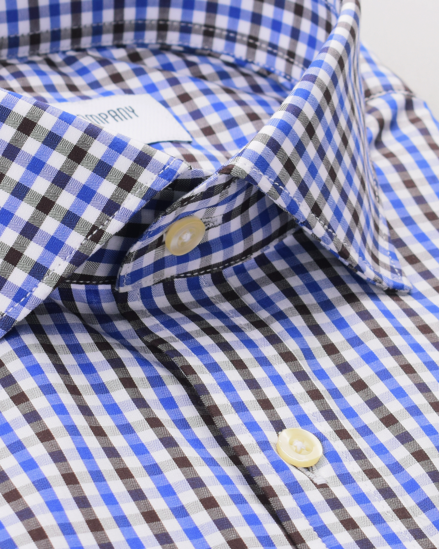 Wrinkle Resistant Charcoal and Indigo Checks Shirt