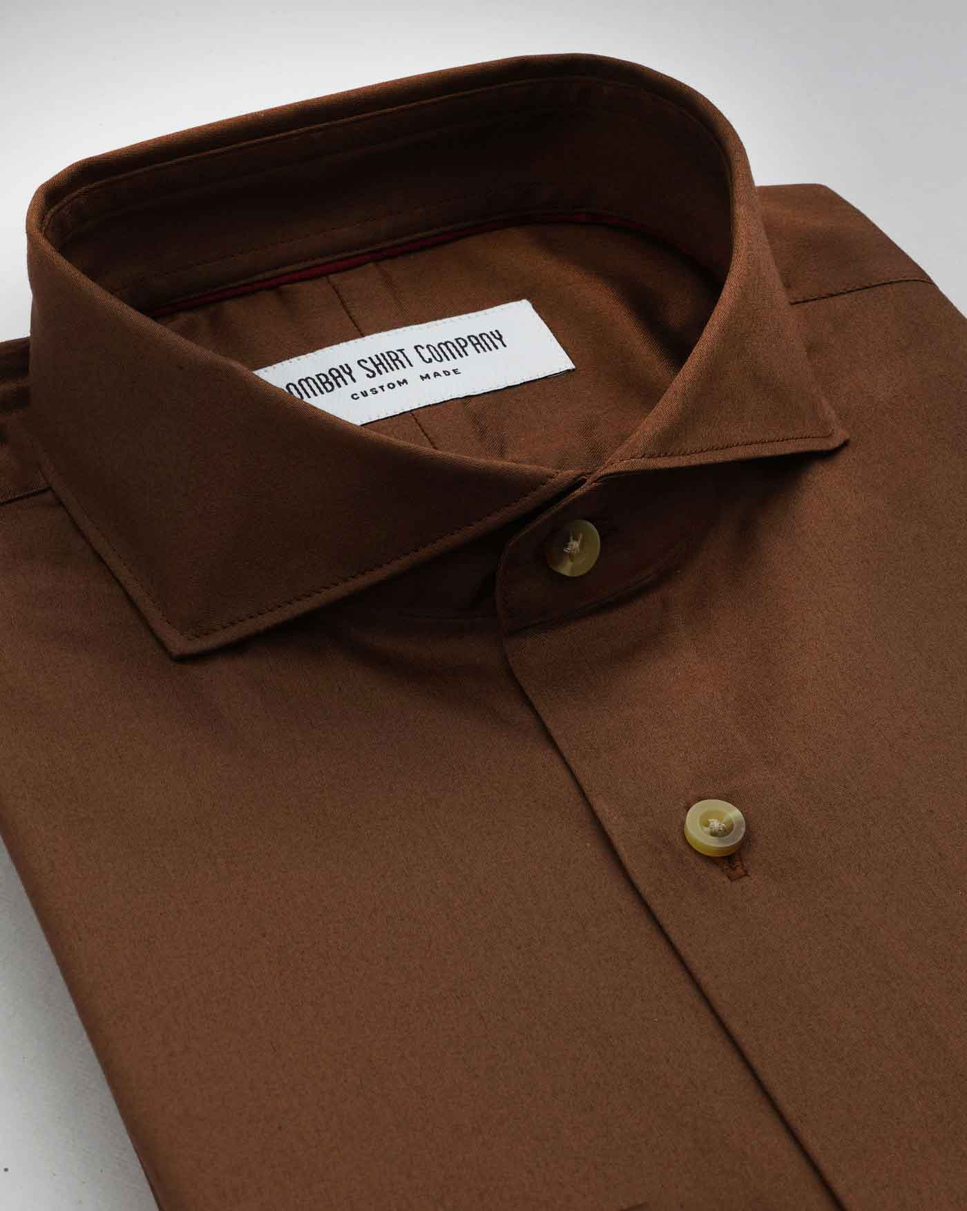 Cognac Stretch Satin