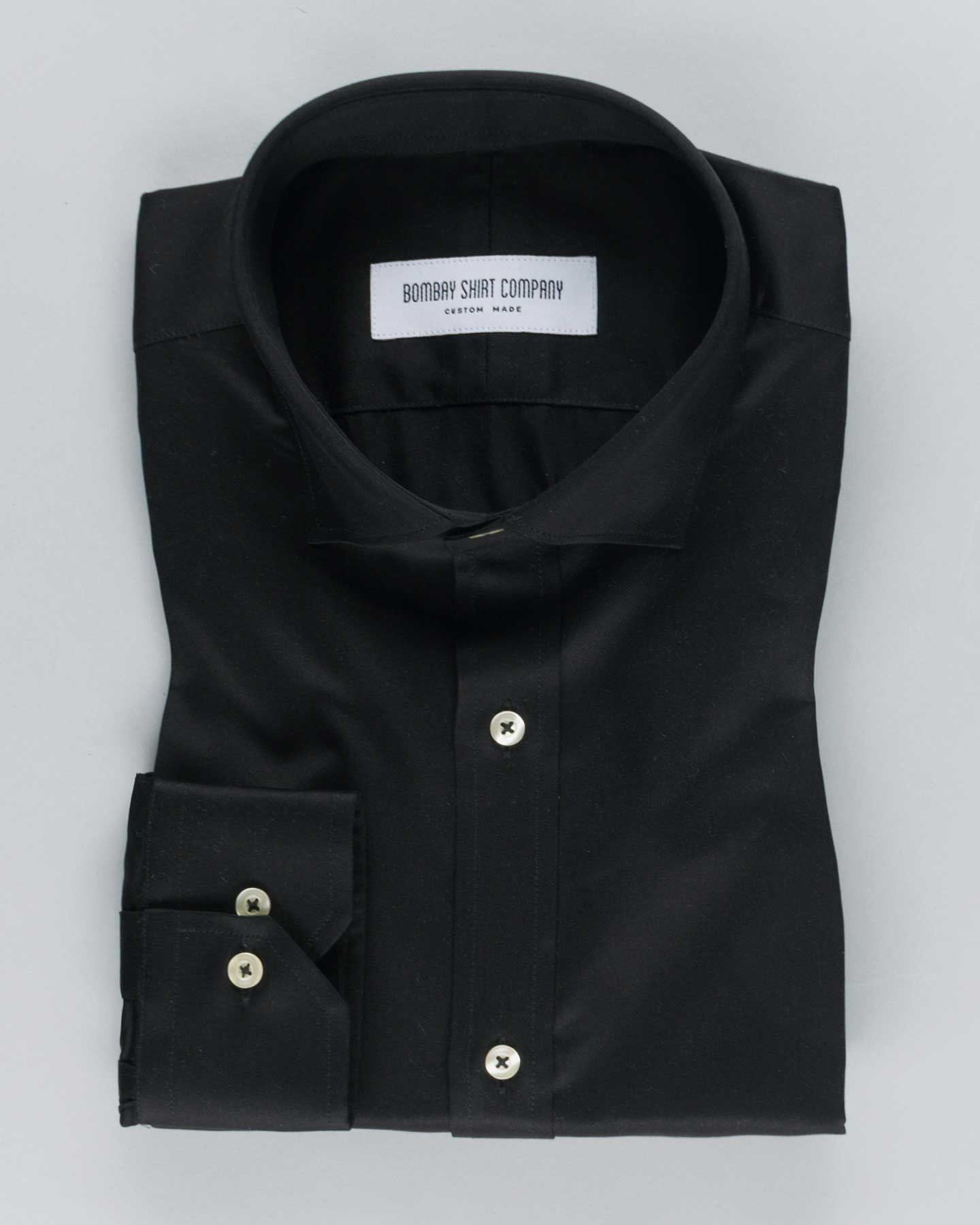 Super Black Satin Shirt