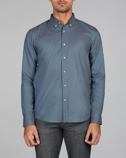 Slate Blue Oxford Shirt
