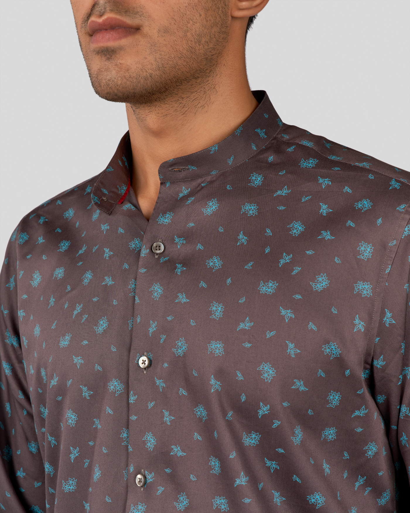 Teal Blooms Shirt