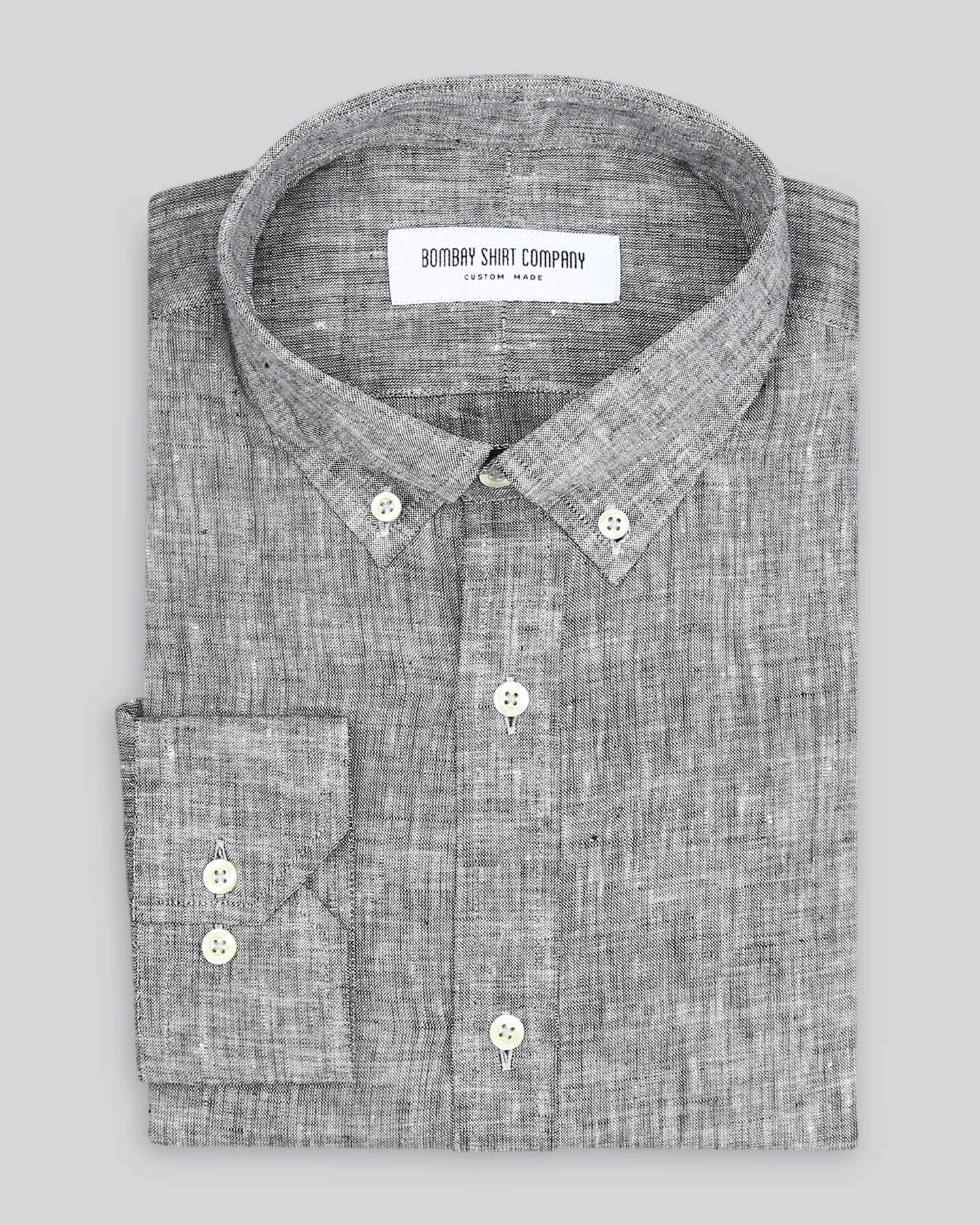 Pebble grey Italian linen Shirt