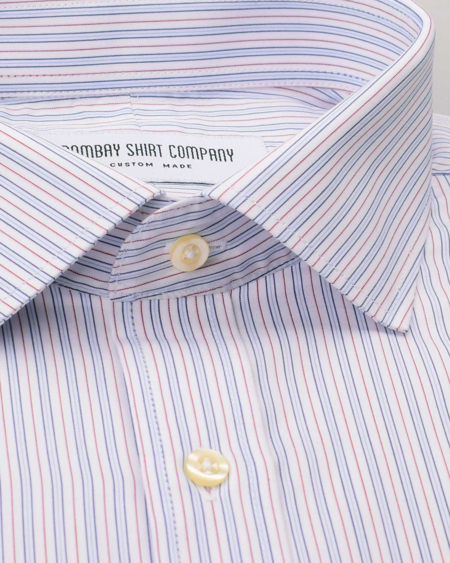 Monti Red Blue Stripes Shirt