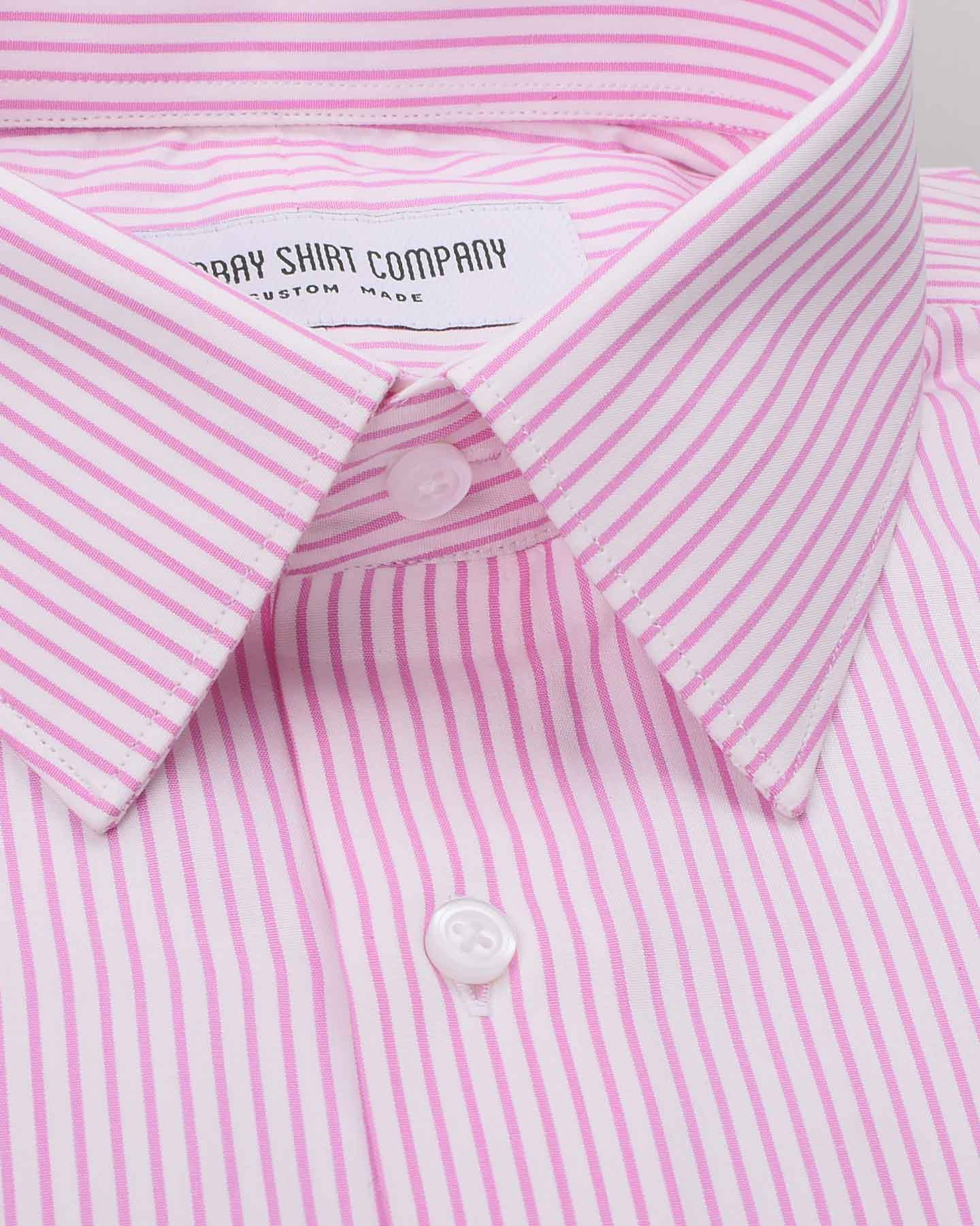 Wrinkle Resistant Pink Stripes Shirt