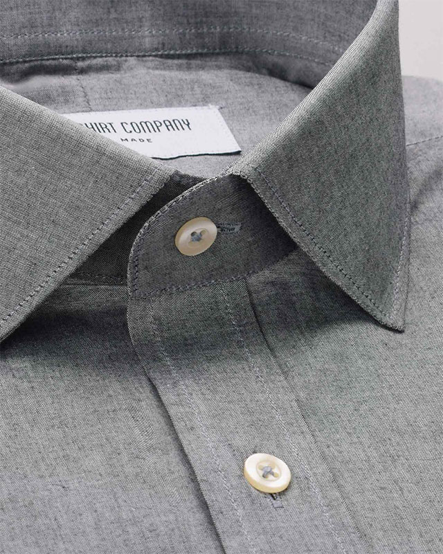 Steel Grey Chambray Shirt