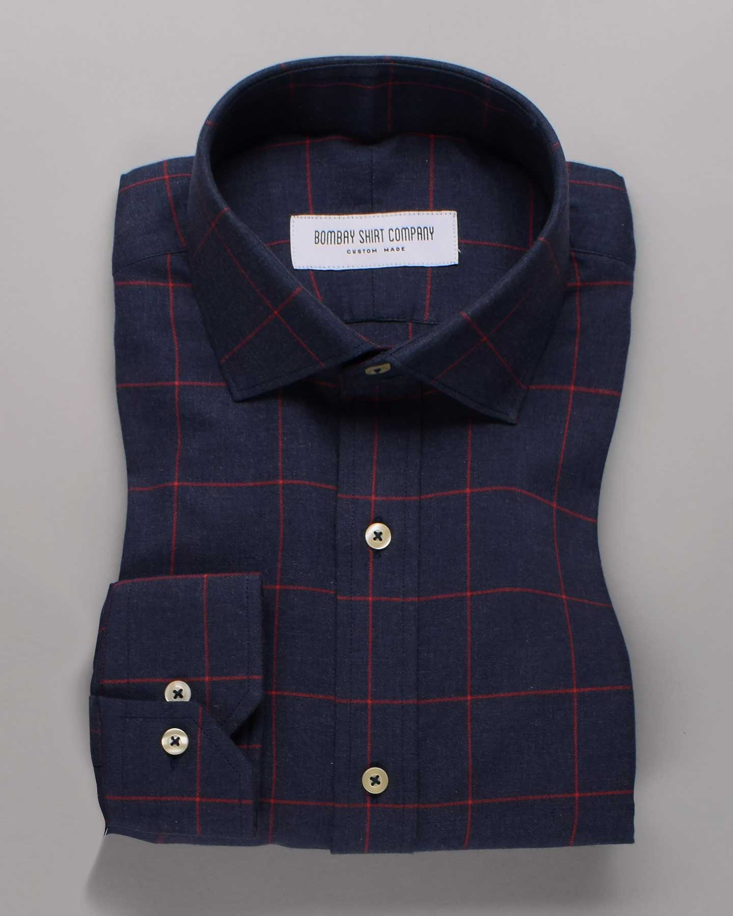Deccan Blue Flannel Checks