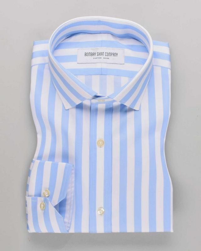 Luthai Wrinkle-Resistant Marina Blue Stripes
