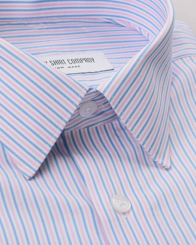 Candy Pink and Baby Blue Stripes Shirt