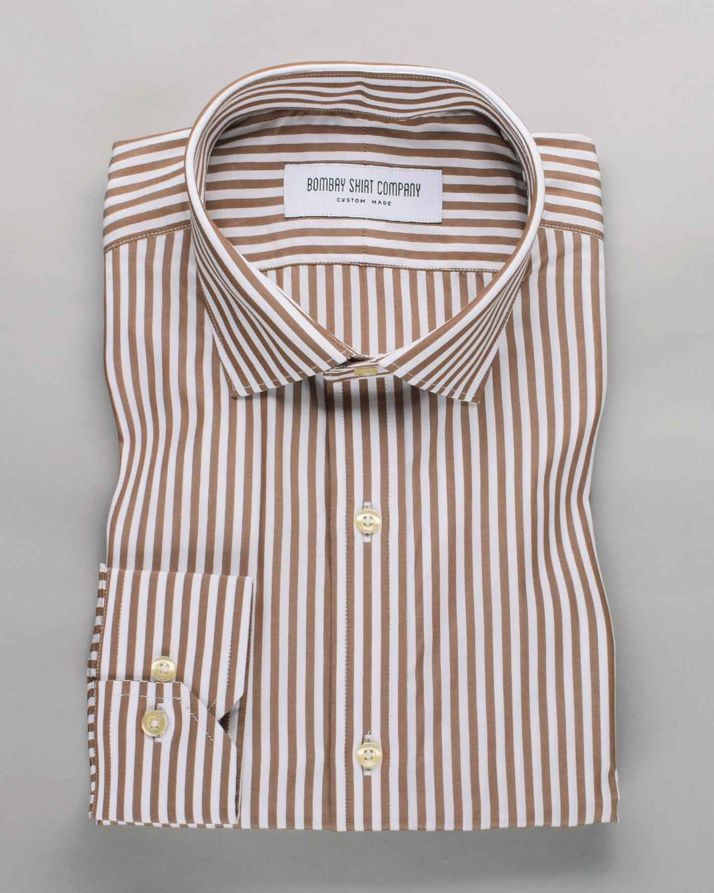 Luthai Mocha Stripes Shirt