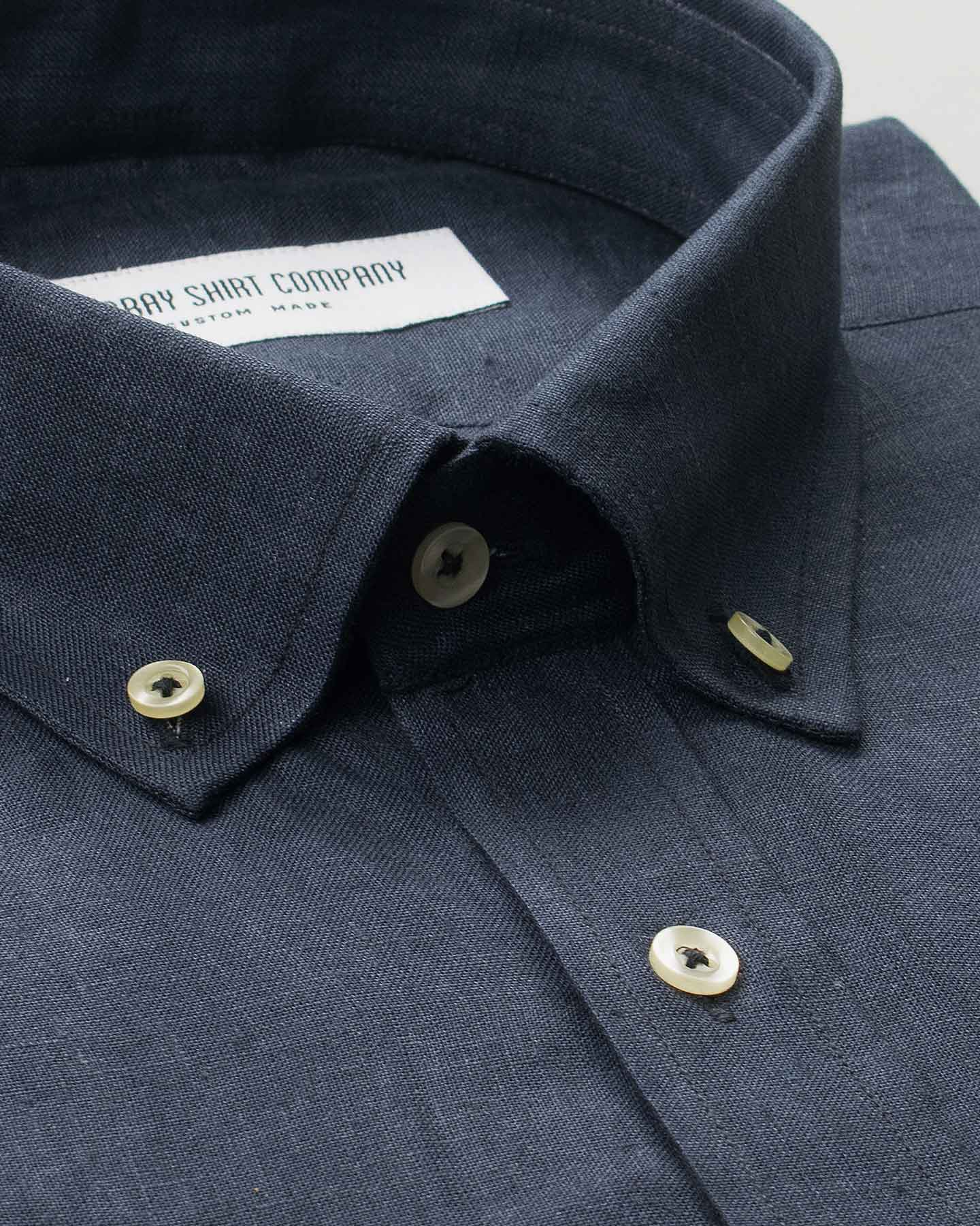 Super Dark Indigo Linen