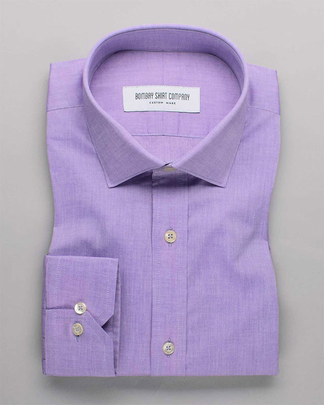 Electric Lilac Chambray Shirt